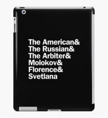 Chess Characters | White iPad Case/Skin