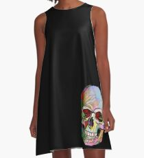 The Happy Skull A-Line Dress