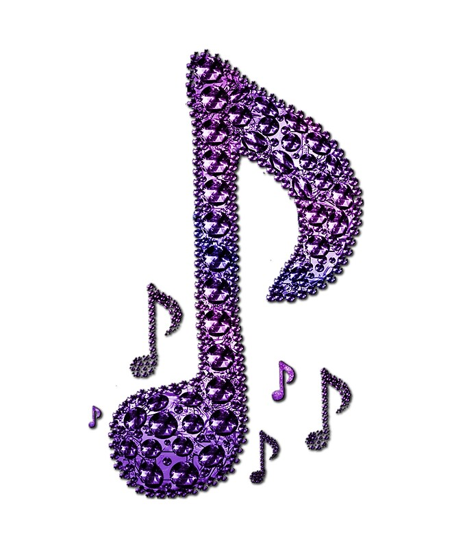 Quot Purple Sparkle Music Notes Pattern Quot By Havendesign