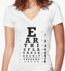 Die Erde ist flach - Sehtafel Shirt mit V-Ausschnitt