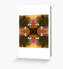 Afro Babe Greeting Card