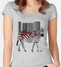 Code Zebra Women's Fitted Scoop T-Shirt
