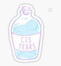 cis tears  Sticker