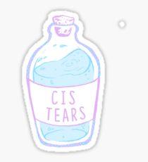 cis Tränen Sticker