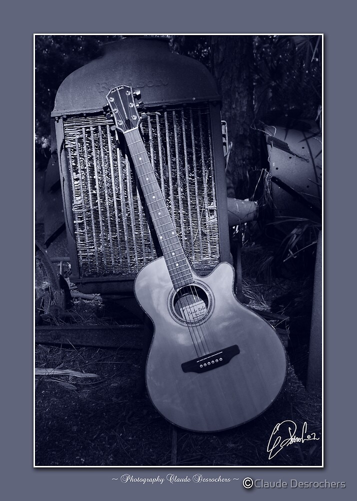 GUITAR AND FORD TRUCK by Claude Desrochers