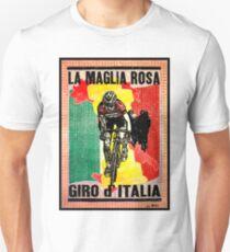 GIRO d ITALIA: Vintage La Maglia Rosa Print Unisex T-Shirt
