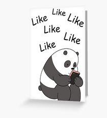 Panda Likes (K) Greeting Card