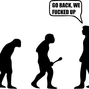 Tshirt Go Back Evolution swag by filippemoraes