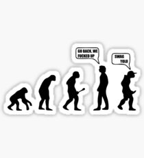 Tshirt Go Back Evolution swag Sticker
