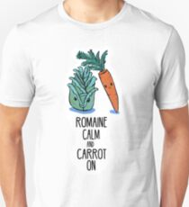 Romaine Calm and Carrot On - Food Pun Unisex T-Shirt