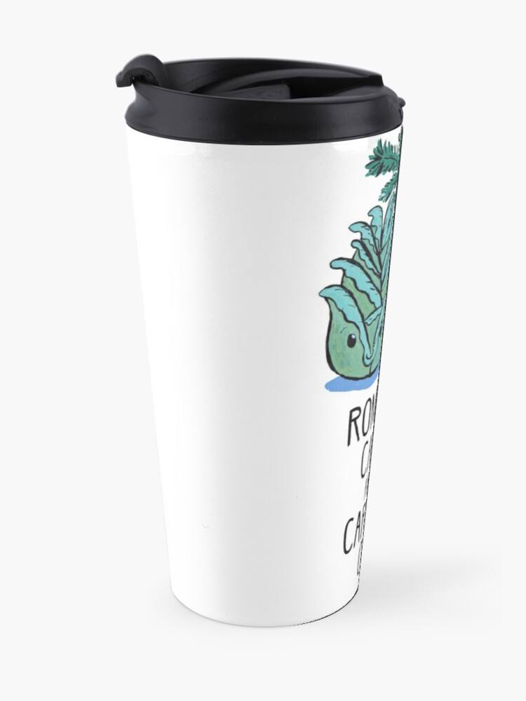 Alternate view of Romaine Calm and Carrot On - Food Pun Travel Mug