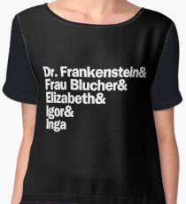 Young Frankenstein Characters | White Women's Chiffon Top