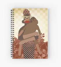 Sock Monkey Mother and Child Spiral Notebook