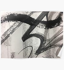 Black and White Abstract Art Poster
