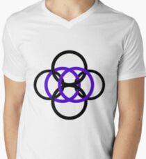 Minimalist Simple Design- Siete Mens V-Neck T-Shirt
