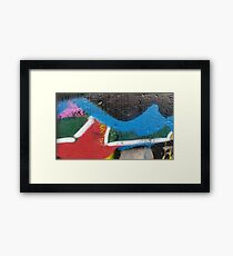graffiti splatter - bright colour triptych Framed Print