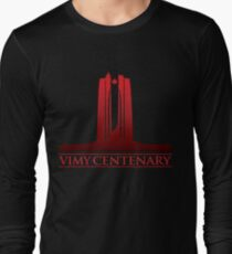 Vimy Centenary Fade to Black Long Sleeve T-Shirt