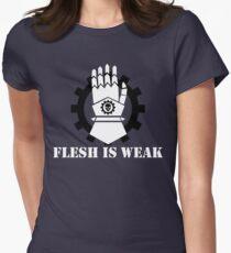 Flesh is Weak Women's Fitted T-Shirt