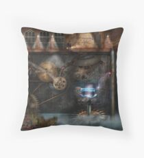 Steampunk - Industrial Society Throw Pillow