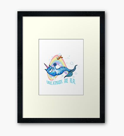 Unicatmaids are real Framed Print