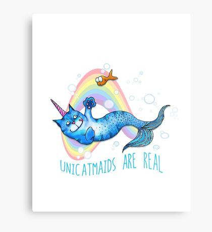 Unicatmaids are real Metal Print