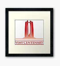 Vimy Centenary Flag Transition Framed Print