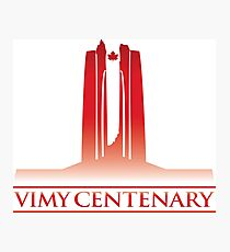 Vimy Centenary Flag Transition Photographic Print