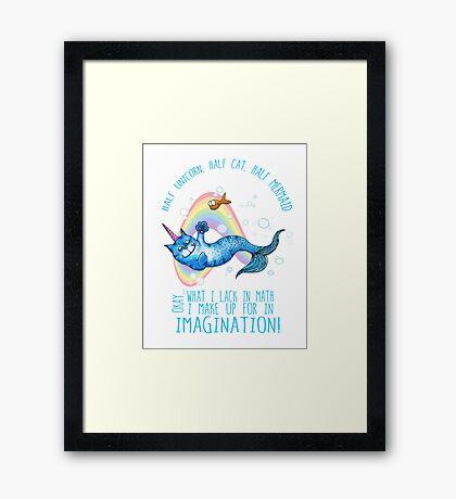 Half unicorn cat mermaid - unicatmaid Framed Print