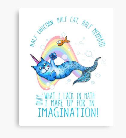 Half unicorn cat mermaid - unicatmaid Metal Print
