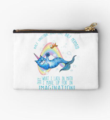 Half unicorn cat mermaid - unicatmaid Studio Pouch