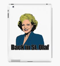 Back In St Olaf iPad Case/Skin