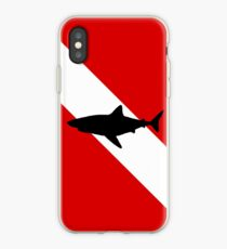 Diving Flag Shark iPhone Case