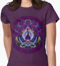 Peacock Mandala - Warm Womens Fitted T-Shirt