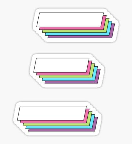 3D en capas 2.0 - xi Pegatina