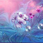 Do Bubbles and Flowers Go Together, Dedicated to Shar-Autumnwind by SherriOfPalmSprings Sherri Nicholas-