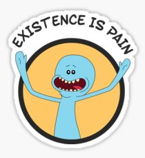 Mr. Meeseeks Existence Is Pain (Orange) Sticker