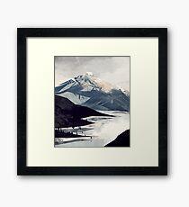 Calming Mountain Framed Art Print