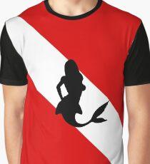 Diving Flag Mermaid Graphic T-Shirt