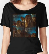 Lost in space brown cows Women's Relaxed Fit T-Shirt