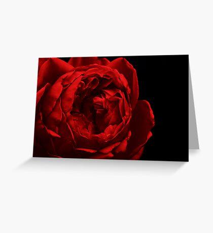 Dark Red Greeting Card