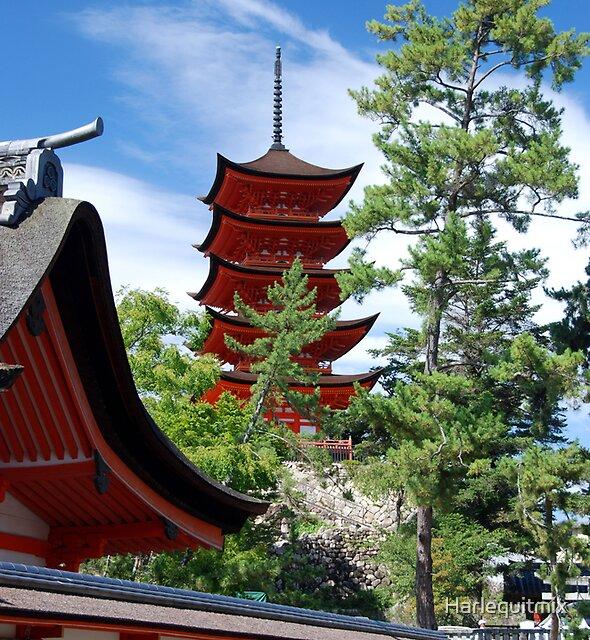 Miyajima Pagoda by Harlequitmix