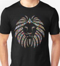 Camiseta ajustada Colorful Mandala Lion - Lion Stickers