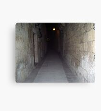 Old Mdina strait road by night Canvas Print