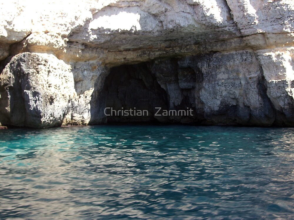 Caves at blue Grotto by Christian  Zammit