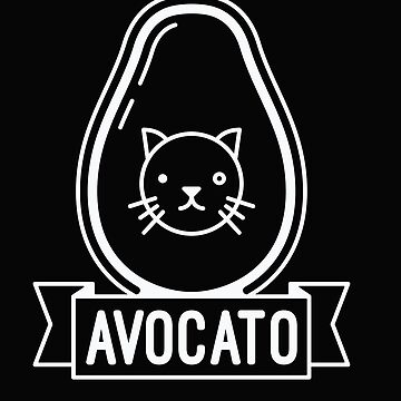 Avocato - Funny Avocado Cat Saying Quote by BullQuacky