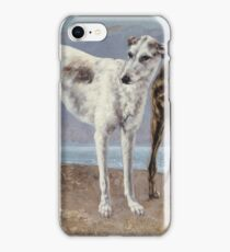 Gustave Courbet - The Greyhounds Of The Comte De Choiseul iPhone Case/Skin