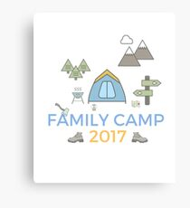 Family Camping Holiday Memories 2017 - Start a Trend! Canvas Print