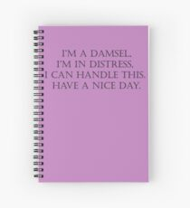 Damsel in Distress Spiral Notebook