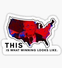 This Is What Winning Looks Like (Trump Victory Electoral Map) Sticker