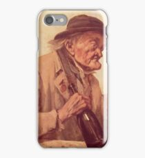 Gustave Courbet - Old Man With A Glass Of Wine iPhone Case/Skin